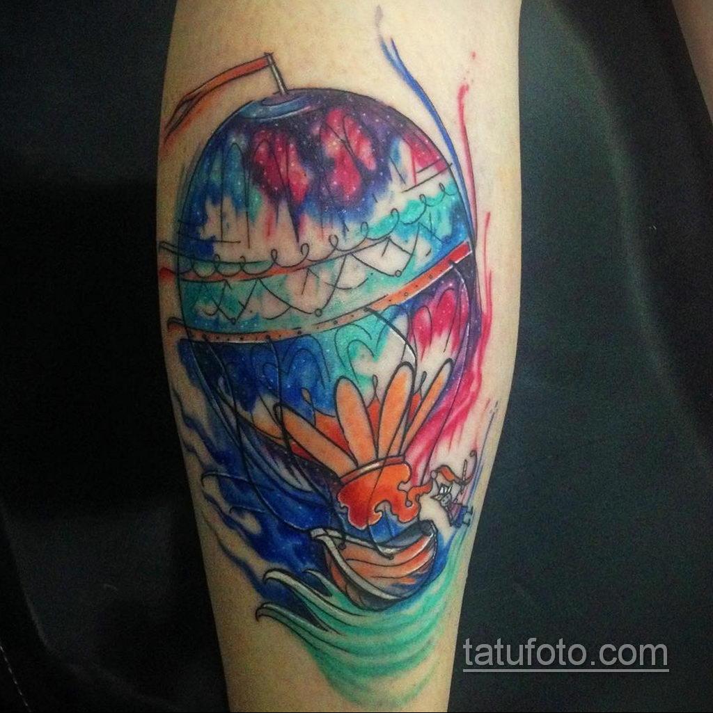 Фото тату воздушный шар 05.07.2021 №422 - balloon tattoo - tatufoto.com