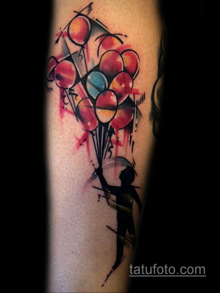 Фото тату воздушный шар 05.07.2021 №424 - balloon tattoo - tatufoto.com