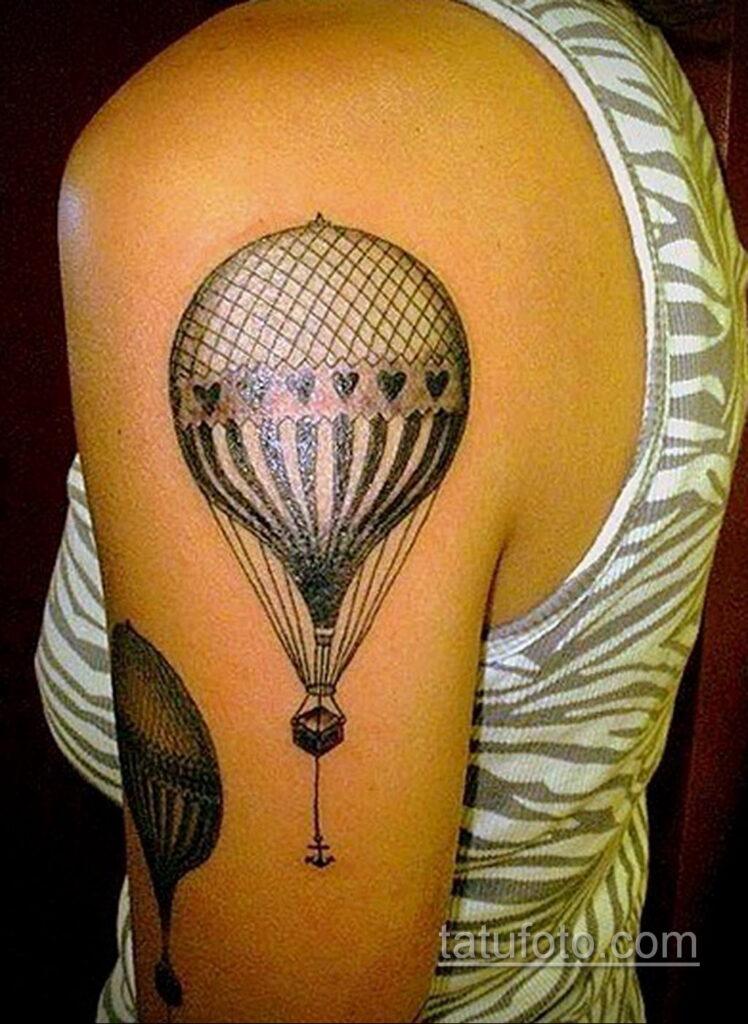 Фото тату воздушный шар 05.07.2021 №425 - balloon tattoo - tatufoto.com