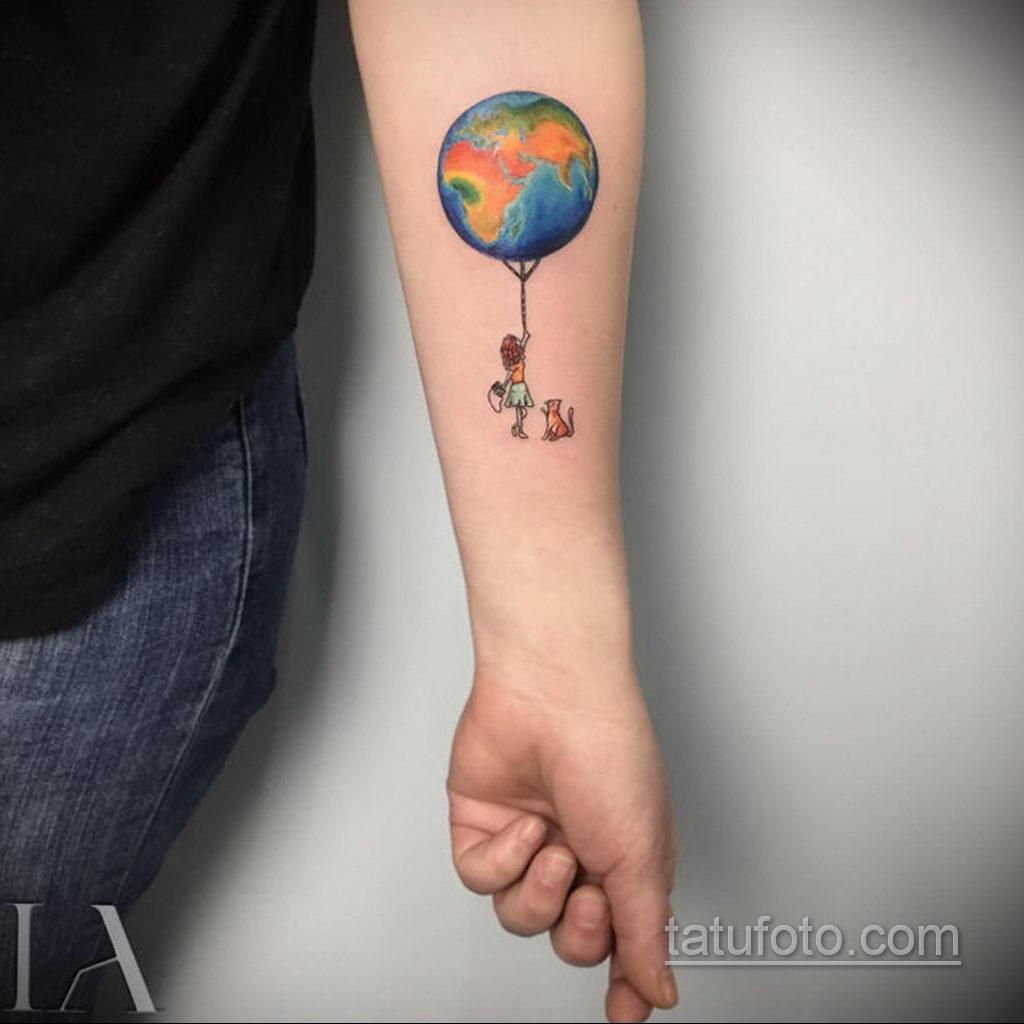 Фото тату воздушный шар 05.07.2021 №429 - balloon tattoo - tatufoto.com