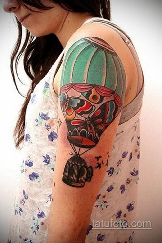 Фото тату воздушный шар 05.07.2021 №430 - balloon tattoo - tatufoto.com