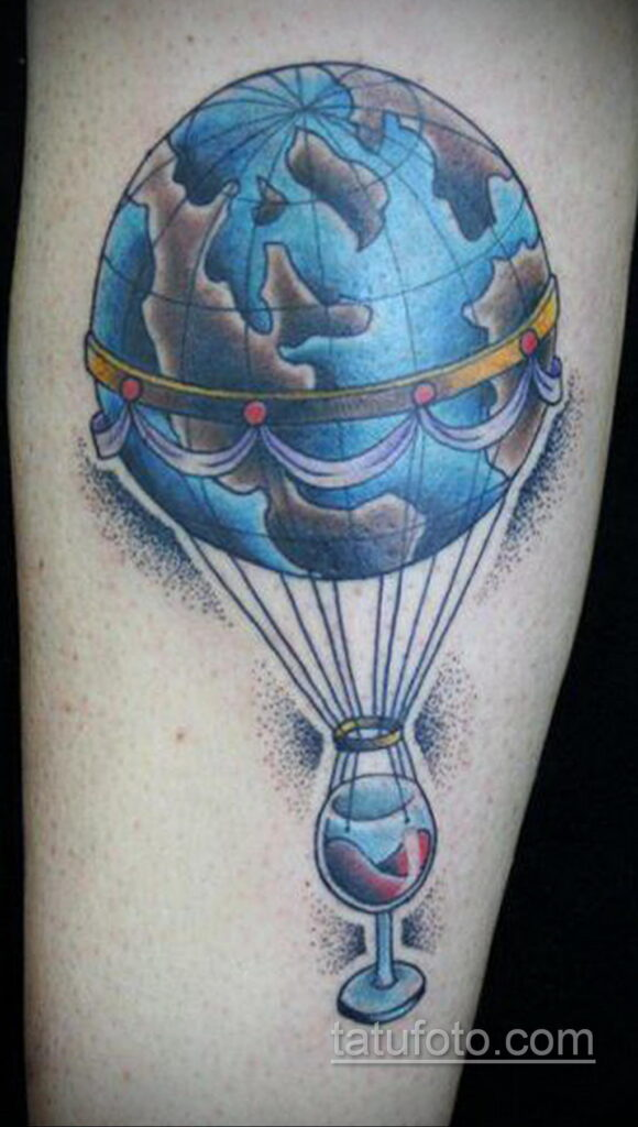 Фото тату воздушный шар 05.07.2021 №433 - balloon tattoo - tatufoto.com