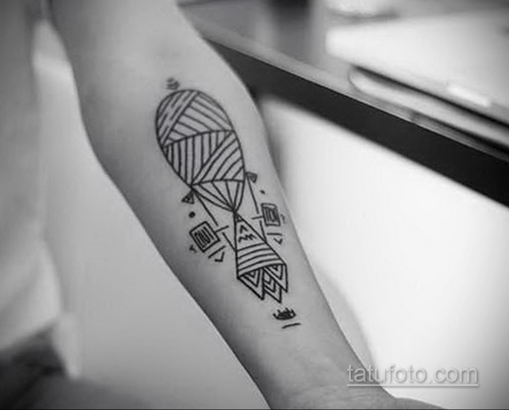 Фото тату воздушный шар 05.07.2021 №435 - balloon tattoo - tatufoto.com
