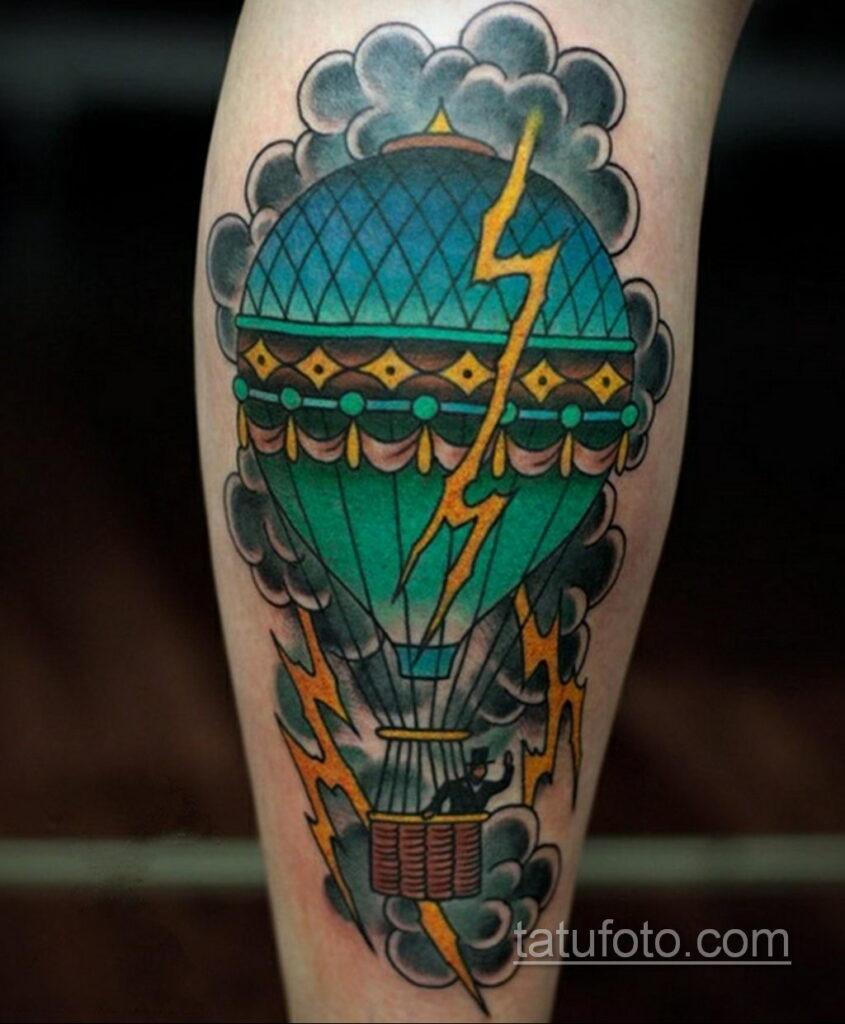 Фото тату воздушный шар 05.07.2021 №436 - balloon tattoo - tatufoto.com