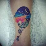 Фото тату воздушный шар 05.07.2021 №442 - balloon tattoo - tatufoto.com