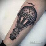 Фото тату воздушный шар 05.07.2021 №446 - balloon tattoo - tatufoto.com