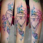 Фото тату воздушный шар 05.07.2021 №447 - balloon tattoo - tatufoto.com