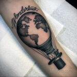 Фото тату воздушный шар 05.07.2021 №448 - balloon tattoo - tatufoto.com