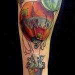 Фото тату воздушный шар 05.07.2021 №449 - balloon tattoo - tatufoto.com