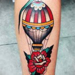 Фото тату воздушный шар 05.07.2021 №453 - balloon tattoo - tatufoto.com