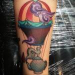 Фото тату воздушный шар 05.07.2021 №454 - balloon tattoo - tatufoto.com