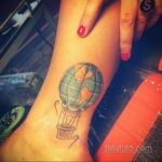 Фото тату воздушный шар 05.07.2021 №457 - balloon tattoo - tatufoto.com