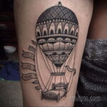 Фото тату воздушный шар 05.07.2021 №458 - balloon tattoo - tatufoto.com