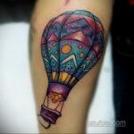 Фото тату воздушный шар 05.07.2021 №460 - balloon tattoo - tatufoto.com