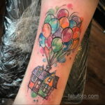 Фото тату воздушный шар 05.07.2021 №466 - balloon tattoo - tatufoto.com