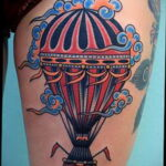 Фото тату воздушный шар 05.07.2021 №469 - balloon tattoo - tatufoto.com