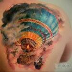 Фото тату воздушный шар 05.07.2021 №470 - balloon tattoo - tatufoto.com
