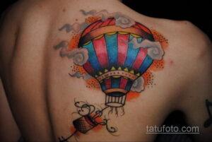 Фото тату воздушный шар 05.07.2021 №472 - balloon tattoo - tatufoto.com