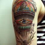 Фото тату воздушный шар 05.07.2021 №473 - balloon tattoo - tatufoto.com