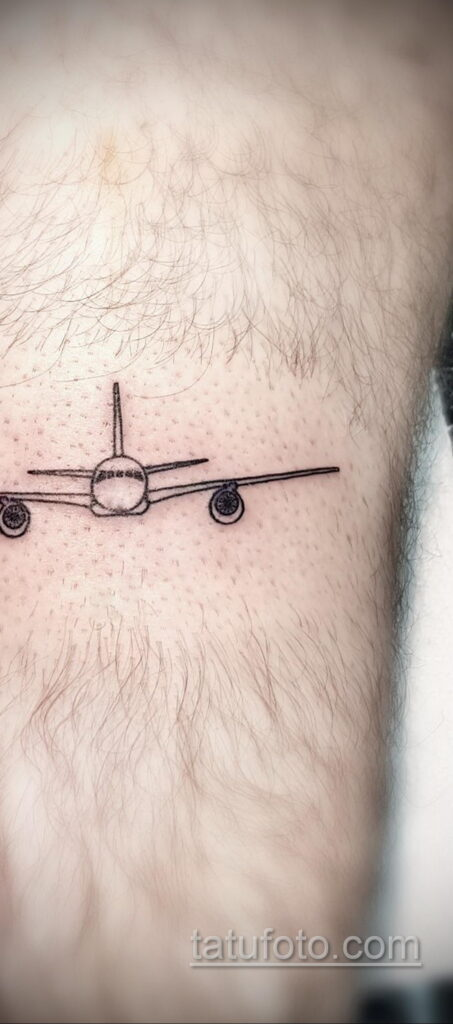 Фото тату самолет 06.07.2021 №404 - airplane tattoo - tatufoto.com