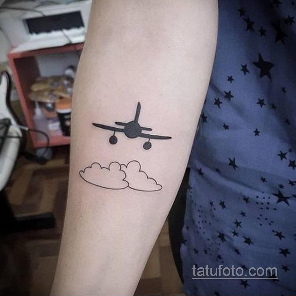 Фото тату самолет 06.07.2021 №418 - airplane tattoo - tatufoto.com