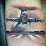 Фото тату самолет 06.07.2021 №444 - airplane tattoo - tatufoto.com