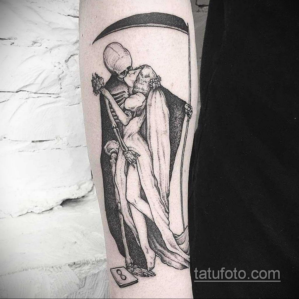 Фото тату с поцелуем 05.07.2021 №213 - tattoo kiss - tatufoto.com