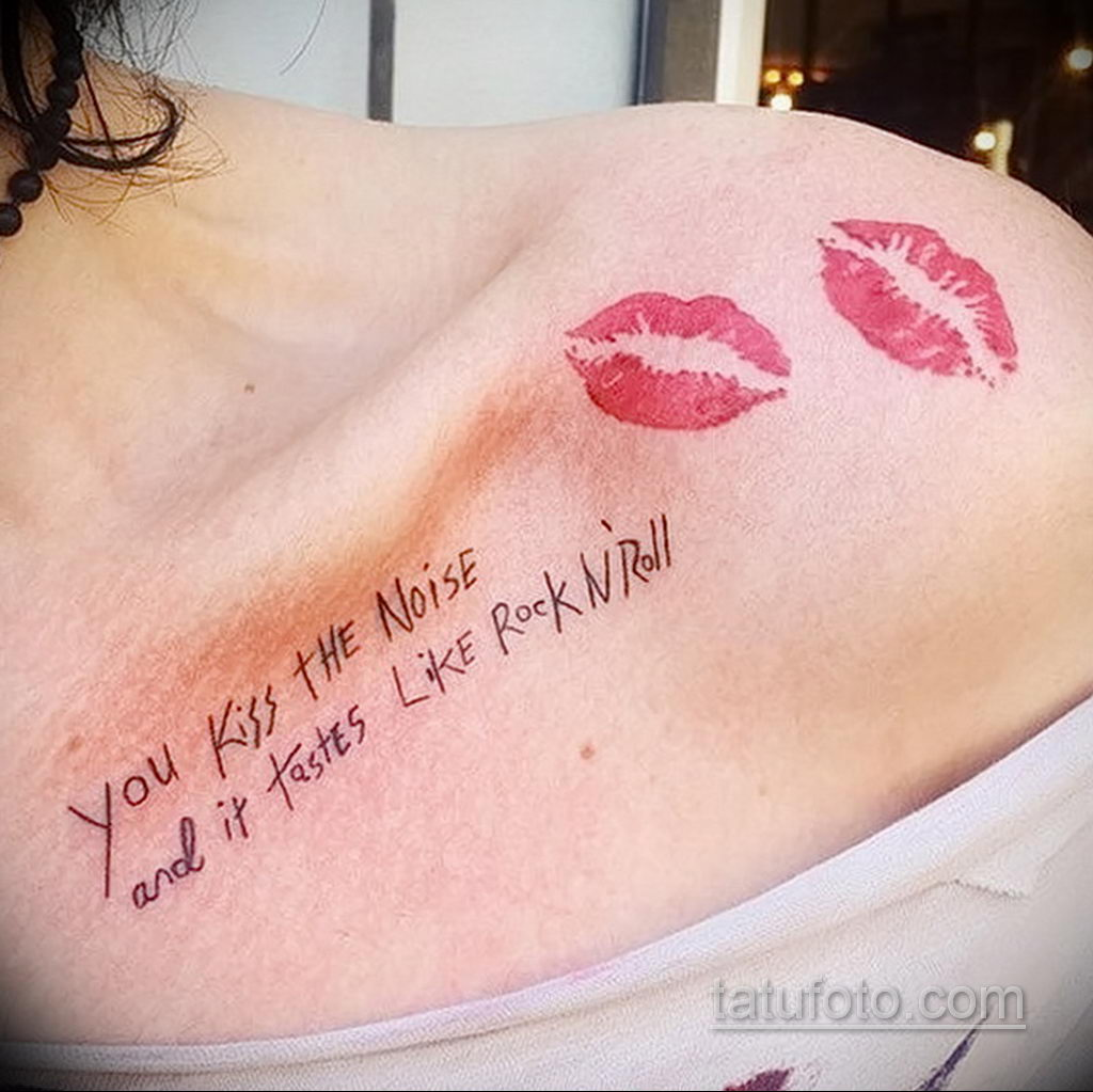 Фото тату с поцелуем 05.07.2021 №226 - tattoo kiss - tatufoto.com